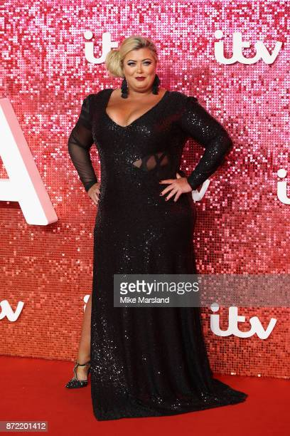 Gemma Collins arrives at the ITV Gala held at the London Palladium on November 9 2017 in London England