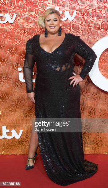 Gemma Collins arriving at the ITV Gala held at the London Palladium on November 9 2017 in London England