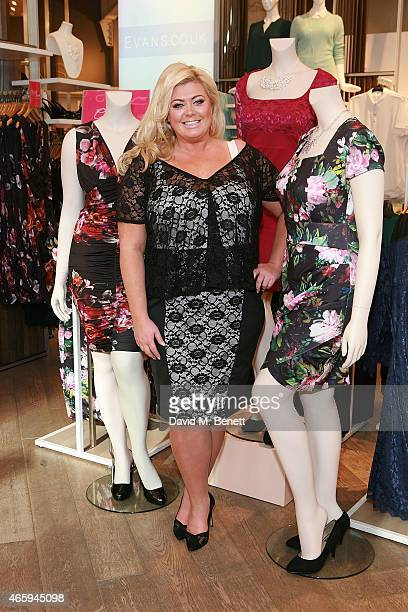 Gemma Collins at Evans Marble Arch to launch the Gemma Collins collection on March 12 2015 in London England
