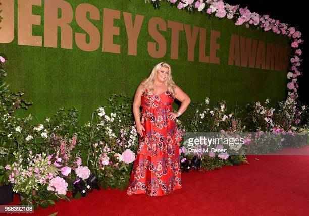Gemma Collins attend the 2nd annual Jersey Style Awards in association with Bentley Motors Chopard and Ortac Aviation to celebrate the best of art...