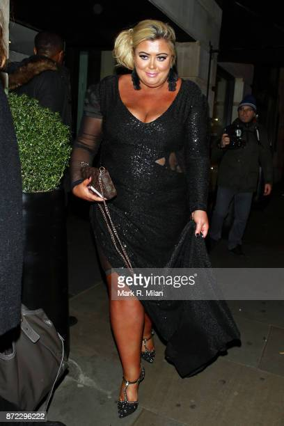 Gemma Collins attending the ITV Gala afterparty at Aqua on November 9 2017 in London England