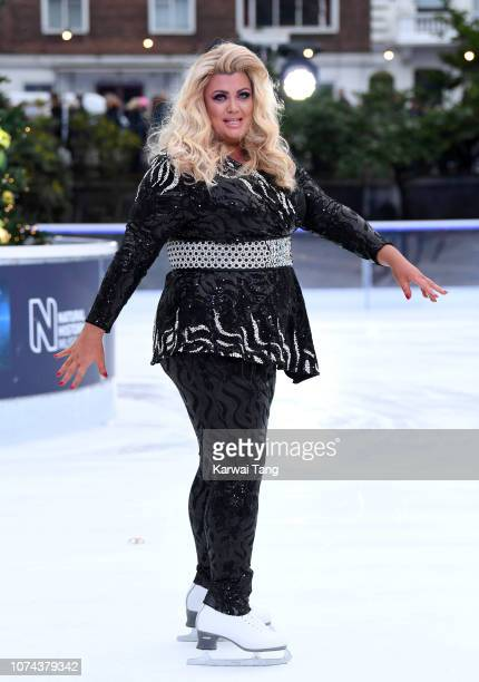 Gemma Collins attends a photocall for the new series of Dancing On Ice at Natural History Museum Ice Rink on December 18 2018 in London England