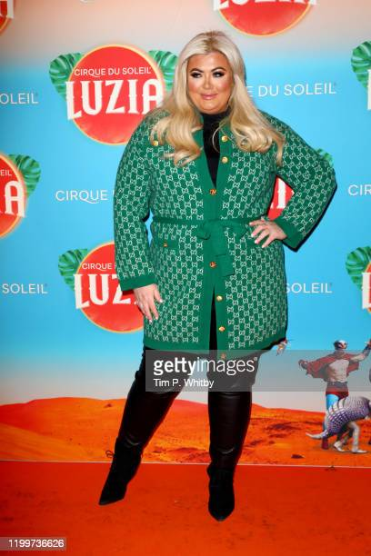 Gemma Collins attends Cirque du Soleil's LUZIA at Royal Albert Hall on January 15 2020 in London England