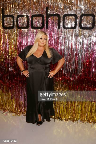Gemma Collins attends the Boohoo at Curve Fashion Festival stand on November 17 2018 in Liverpool England
