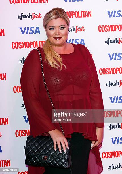 Gemma Collins attends the Catwalk to Cosmopolitan fashion show as part of the Cosmopolitan FashFest at Battersea Evolution on September 17 2015 in...