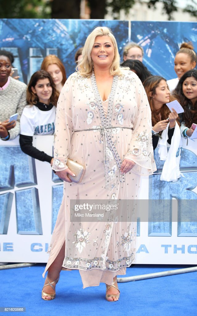Gemma Collins attends the 'Valerian And The City Of A Thousand Planets' European Premiere at Cineworld Leicester Square on July 24, 2017 in London, England.