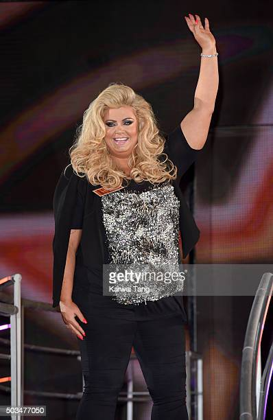 Gemma Collins enters the Celebrity Big Brother House at Elstree Studios on January 5 2016 in Borehamwood England