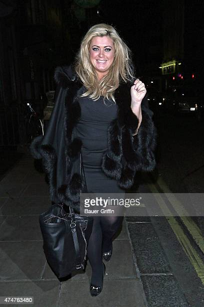 Gemma Collins is seen leaving a night club on November 09 2012 in London United Kingdom
