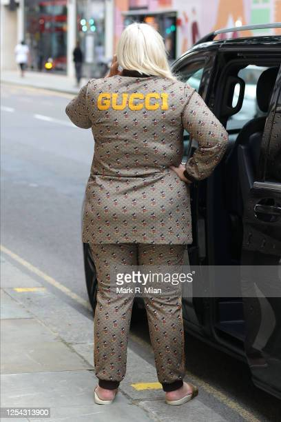 Gemma Collins is seen outside Gucci on Sloane Street on July 04 2020 in London England