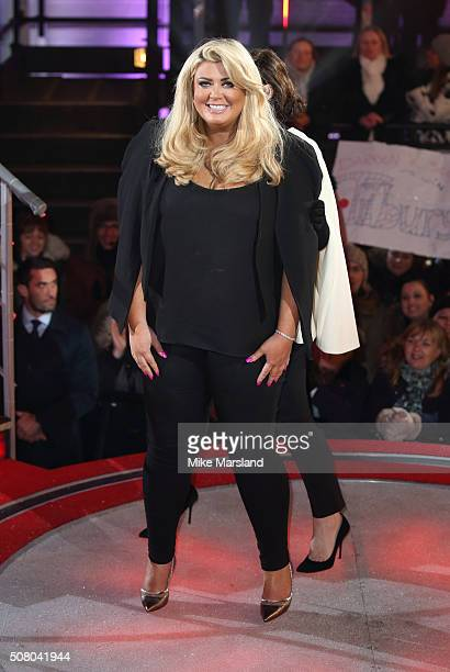 Gemma Collins is the 7th celebrity evicted from the Big Brother House at Elstree Studios on February 2 2016 in Borehamwood England