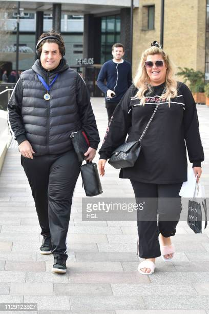 Gemma Collins James Argent seen leaving a hotel on February 12 2019 in London England