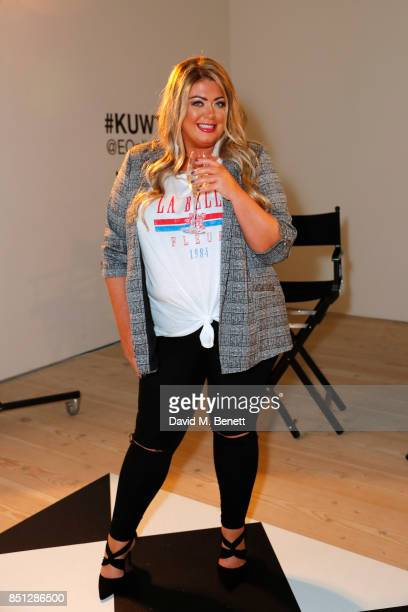 Gemma Collins poses during E Entertainment Television celebrating 10 years of 'Keeping Up With The Kardashians' giving fans an immersive experience...