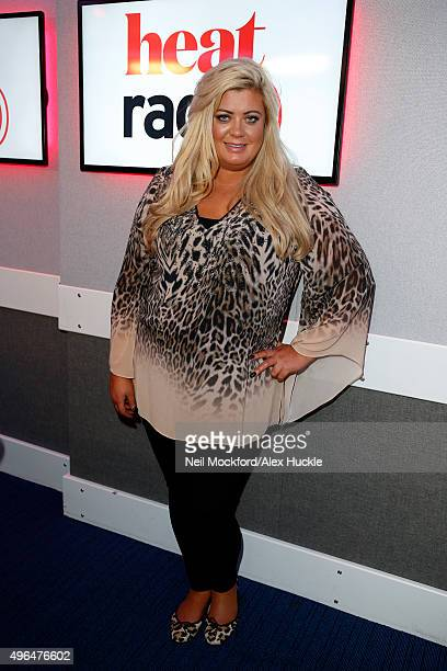 Gemma Collins poses for pictures during a visit to Heat Radio on November 10 2015 in London England