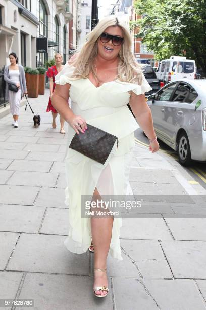 Gemma Collins seen arriving for a Heat Radio interview at Bauer Media Studios on June 18 2018 in London England