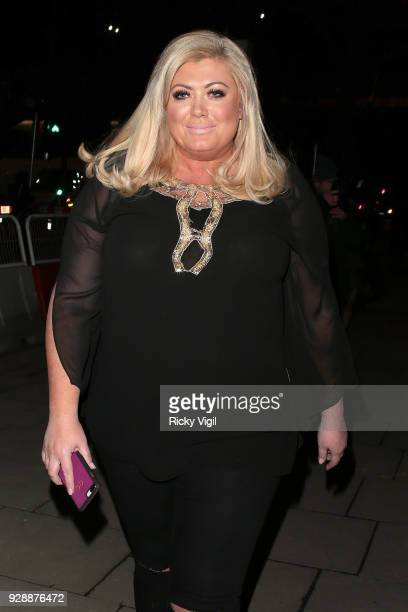 Gemma Collins seen attending Mark Hill International Women's Day event at MV Hispaniola on March 7 2018 in London England