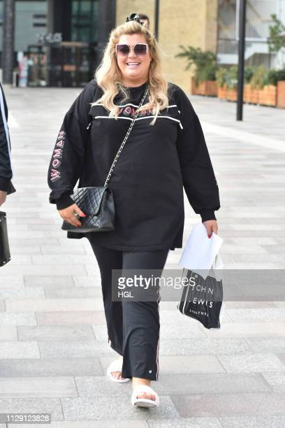 Gemma Collins seen Leaving a hotel on February 12 2019 in London England