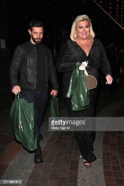 Gemma Collins seen leaving Harrods on March 11 2020 in London England
