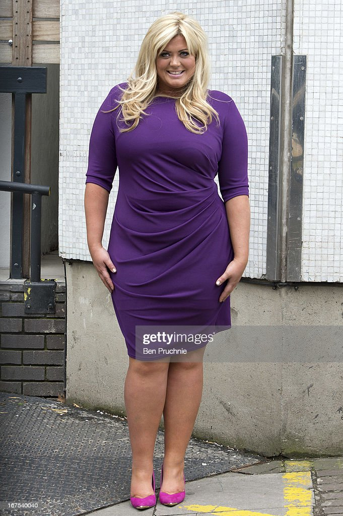 Gemma Collins sighted departing ITV Studios on April 26, 2013 in London, England.