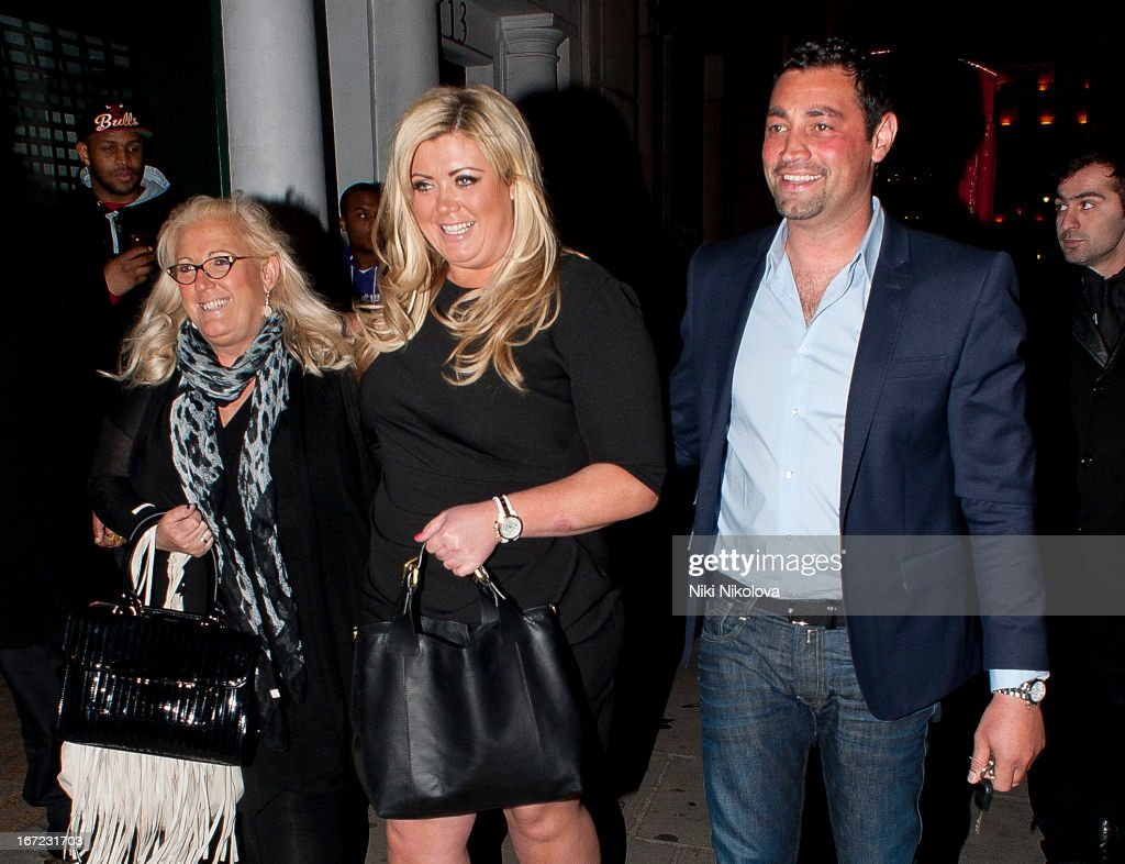 Gemma Collins sighting at Nobu restaurant on April 22, 2013 in London, England.