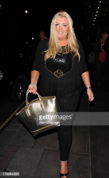 Gemma Collins sighting in Stratton Street Mayfair on July 30 2013 in London England