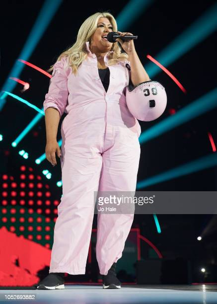 Gemma Collins Sky Dives in to SSE Arena Wembley at the BBC Radio 1 Teen Awards on October 21 2018 in London United Kingdom