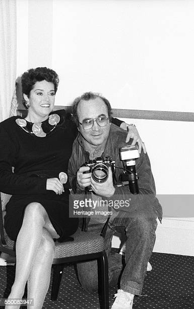 Gemma Craven Irish Actress and Bob Hoskins English actor BAFTA Picadilly London 1990