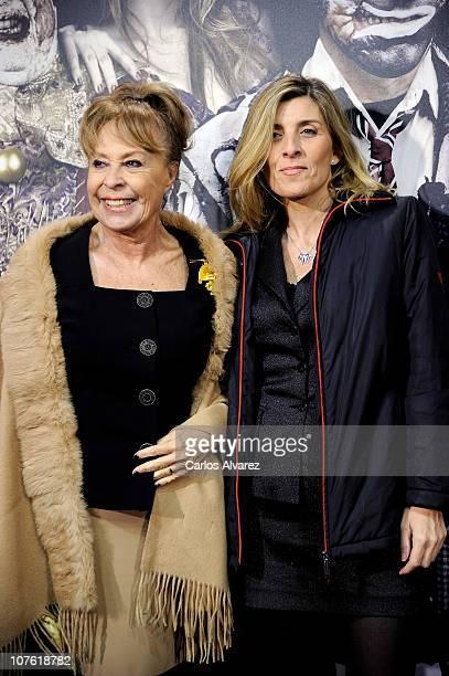 Gemma Cuervo and Natalia Guillen Cuervo attend Balada Triste de Trompeta premiere at Capitol Cinema on December 15 2010 in Madrid Spain
