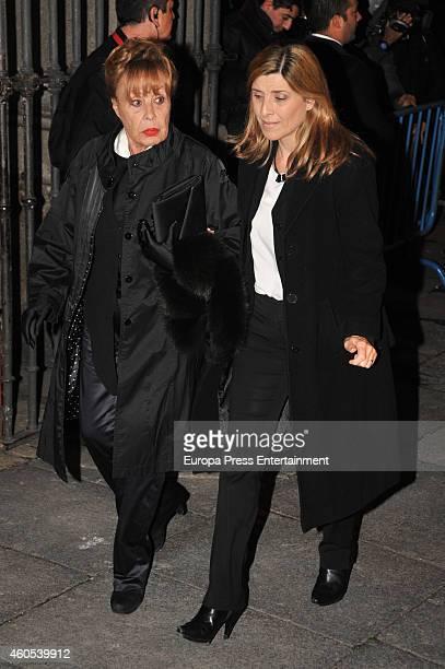 Gemma Cuervo and Natalia Guillen Cuervo attend memorial service for Duchess of Alba on December 15 2014 in Madrid Spain