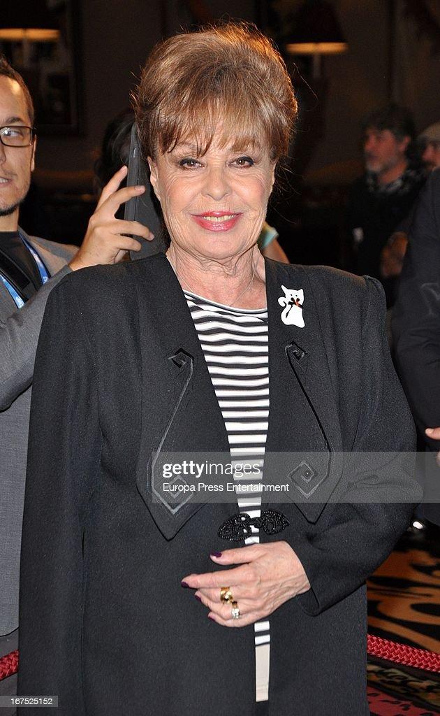 Gemma Cuervo attends Iris Awards 2013 on April 25, 2013 in Madrid, Spain.