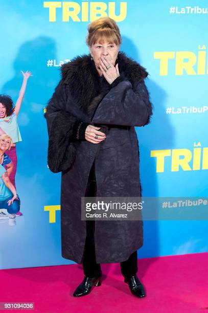 Gemma Cuervo attends 'La Tribu' premiere at the Capitol cinema on March 12 2018 in Madrid Spain