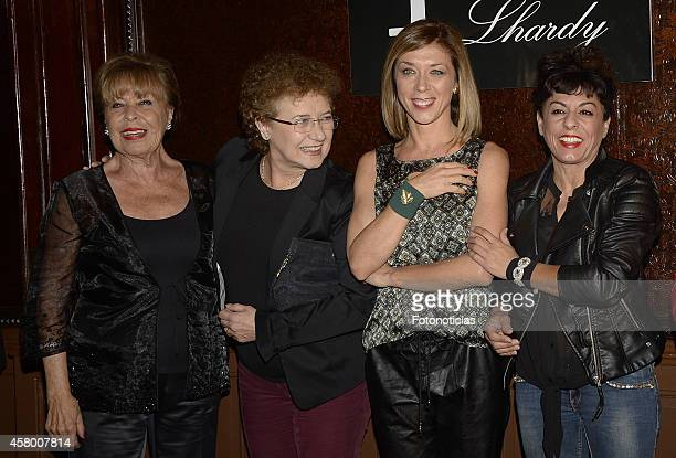 Gemma Cuervo Beatriz Carvajal Eva Isanta and Cristina Medina attends the 'Lhardy' 175th anniversary party on October 28 2014 in Madrid Spain