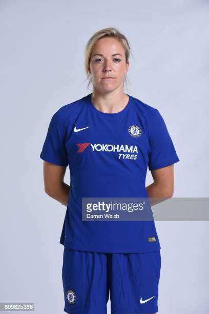 Gemma Davison of Chelsea Ladies during the Chelsea Ladies Nike Kit Shoot at Chelsea Training Ground on June 30 2017 in Cobham England