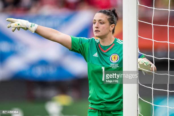 Gemma Fay of Scotland reacts during the UEFA Women's Euro 2017 Group D match between Scotland v Portugal at Sparta Stadion on July 23 2017 in...