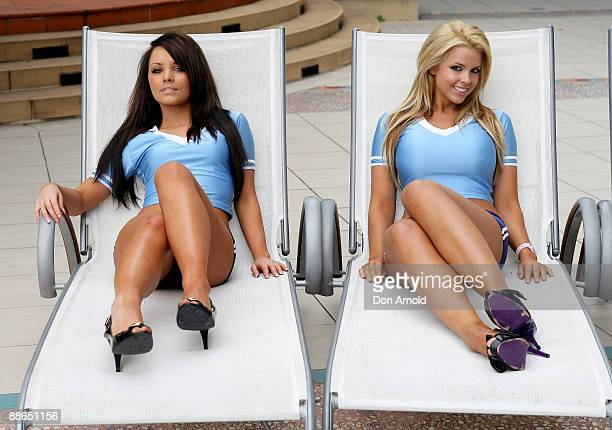 Gemma Gardner and Rachel Burr pose during the 'Face of Origin' competition at Star City on June 24 2009 in Sydney Australia
