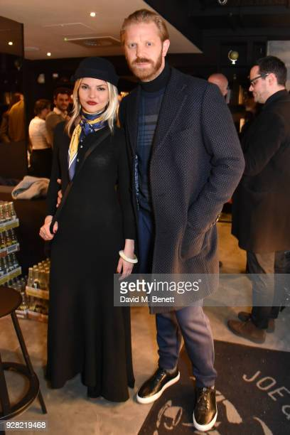 Gemma Gregory and Alistair Guy attend the opening of 'FRAME' an exhibition of photographs by Alan Chapman at BXR London on March 6 2018 in London...
