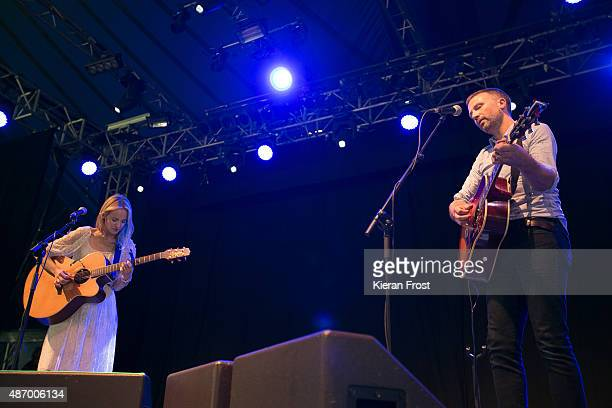 Gemma Hayes and Paul Noonan of Printer Clips performs at Electric Picnic on September 5, 2015 in Stradbally, Ireland.