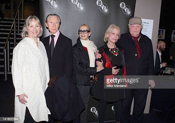 Gemma Jones Georgina Hale Murray Melvin and Dudley Sutton cast members of The Devils attend a reunion in Memory of Director Ken Russell at BFI...