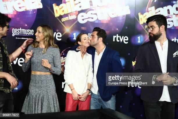 Gemma Mengual Amelia Bono and David Bustamante attend 'Bailando Con Las Estrellas' TVE photocall on May 9 2018 in Madrid Spain