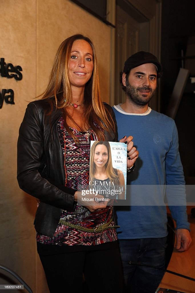 Gemma Mengual and Enric Martin present her new book 'El Agua o La Vida', 'The water or The Life' on March 6, 2013 in Barcelona, Spain.
