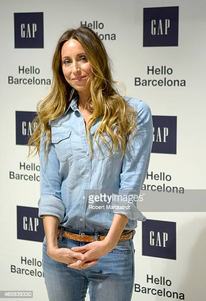 Gemma Mengual poses during a photocall for GAP Space Inauguration at the El Corte Ingles store in Plaza Catalunya on March 11 2015 in Barcelona Spain