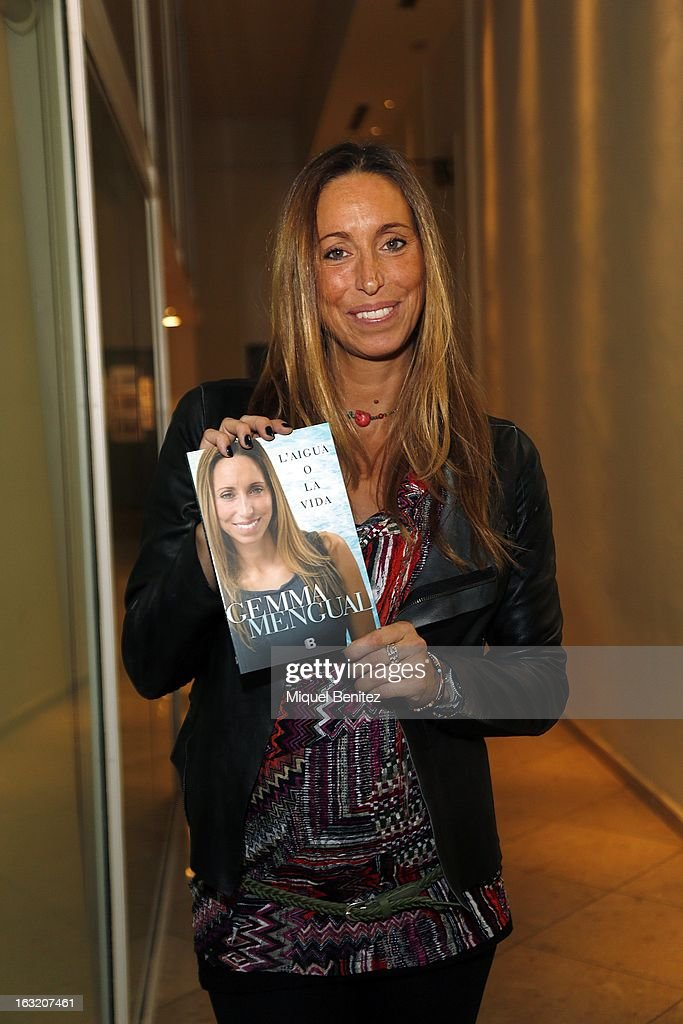 Gemma Mengual presents her new book 'El Agua o La Vida', 'The water or The Life' on March 6, 2013 in Barcelona, Spain.