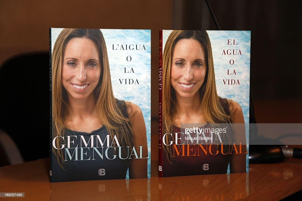 Gemma Mengual's book at the Gemma Mengual presents her new book 'El Agua o La Vida', 'The water or The Life' on March 6, 2013 in Barcelona, Spain.