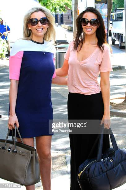 Gemma Merna and Jennifer Metcalfe sighted arriving at ITV Studios on June 26 2012 in London England