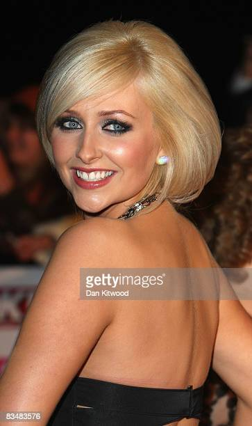 Gemma Merna arrives at the 2008 National Television Awards at The Royal Albert Hall on October 29 2008 in London England