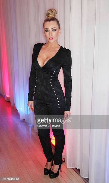 Gemma Merna attends The FHM 100 Sexiest Women In The World 2013 Launch Party at the Sanderson Hotel on May 1 2013 in London England