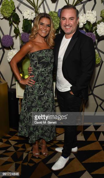 Gemma Oaten and Nick Ede attend the launch of Quaglino's Q Decades Summer Series on July 4 2018 in London England