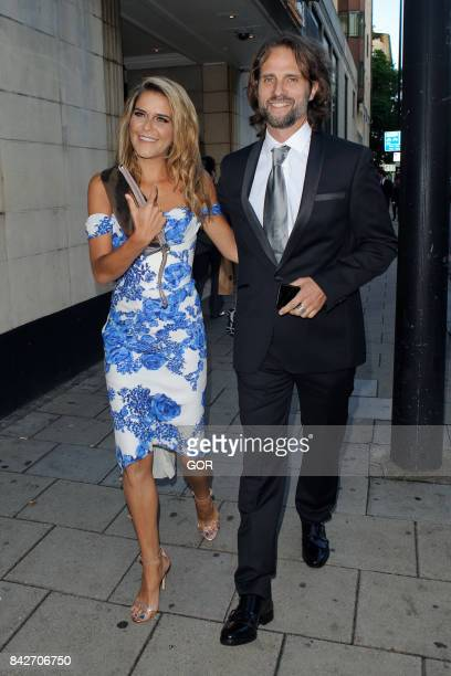 Gemma Oaten and Scott Walker at the TV Choice awards at the Dorchester hotel on September 4, 2017 in London, England.