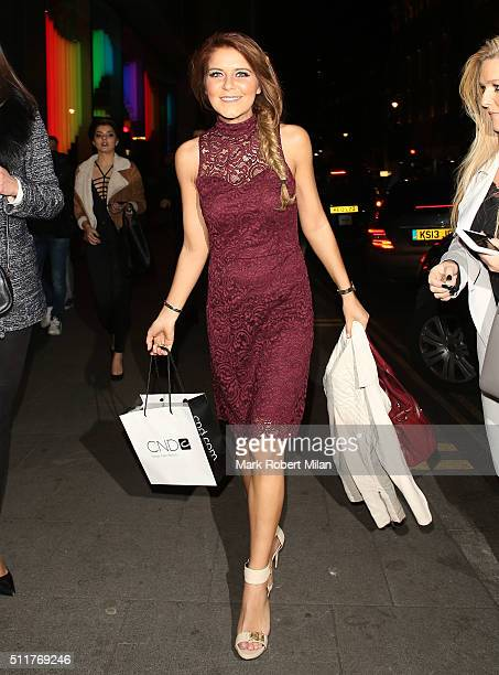 Gemma Oaten attending the JF London a/w1617 presentation and party at the W hotel on February 22 2016 in London England