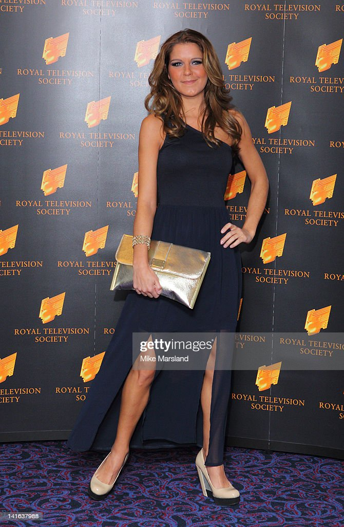 Gemma Oaten attends the RTS Programme Awards at Grosvenor House, on March 20, 2012 in London, England.