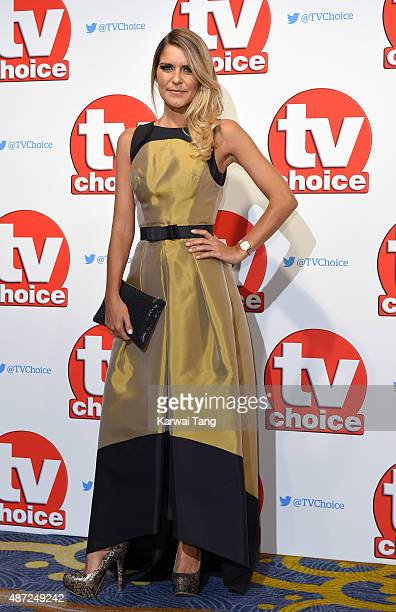 Gemma Oaten attends the TV Choice Awards 2015 at Hilton Park Lane on September 7 2015 in London England
